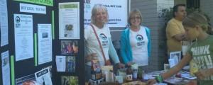 La Mesa Steering Committee Members, Midge Hyde (left) and Nancy Ryan (right),  tabling at Foothills United Methodist Church