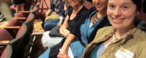 Fair Trade Bloomington members Dave Debikey, Nicole Main, Tana Hellwig, Mary Embry, and Hannah Fidler.