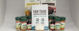 First prize winner gets this snazzy set of Fair Trade spices, cocao powder and butter, plus yummy cake mixes!