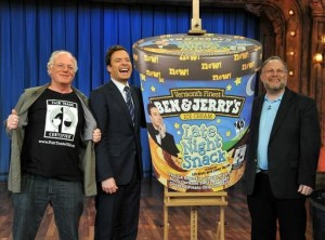 Thank you to these guys! (Ben & Jerry, plus Jimmy Fallon)
