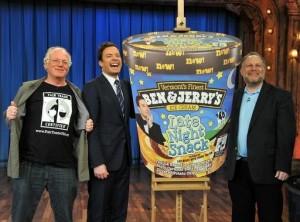 Thank you to these guys! (Ben & Jerry, plus Jimmy Fallon)