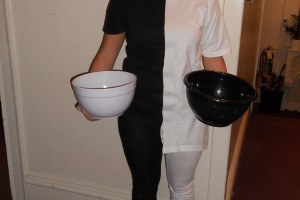"""Victoria Powell as our """"bucket girl"""""""