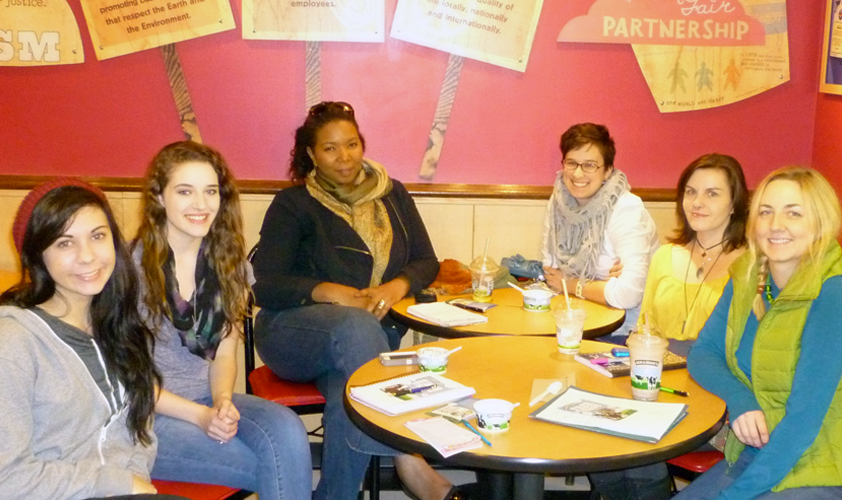 Steering committee meeting at Ben & Jerry's in Dayton