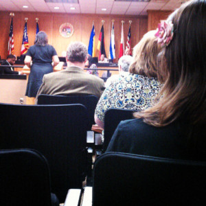Fair Trade resolution being passed at the city meeting