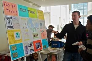First fair trade ice cream social/Fair Trade info table.
