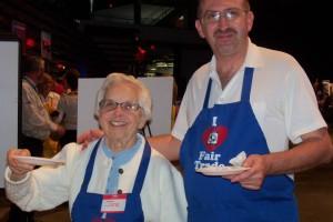 "Jane and Jim at ""100 Men Who Cook"""