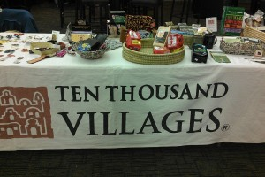 Ten Thousand Villages of Ann Arbor was one of the Fair Trade retailers we brought to campus for a Fair Trade Fair