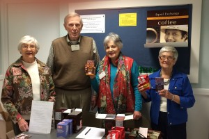 Selling Fair Trade coffee and chocolates after church