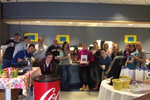 Moraine Park Technical College Ethics class drinking Fair Trade Coffee at the MPTC Café!
