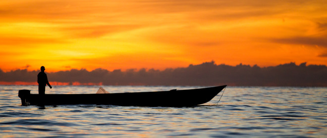 Sunrise fishing, 11th July 2014, Waepure, Buru Island, Indonesia . Photo: Paul Hilton