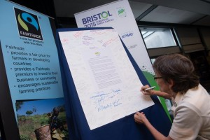 Conference attendees could sign a resolution supporting the Sustainable Development Goals.