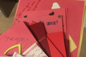 This project engages Spanish classes in the Fair Trade dialogue by having them write cards to farmers and artisans after learning more about what fair trade is.