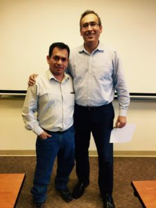 Javier Domingues, with Erick W. Rengifo, Professor of Economics at Fordham University